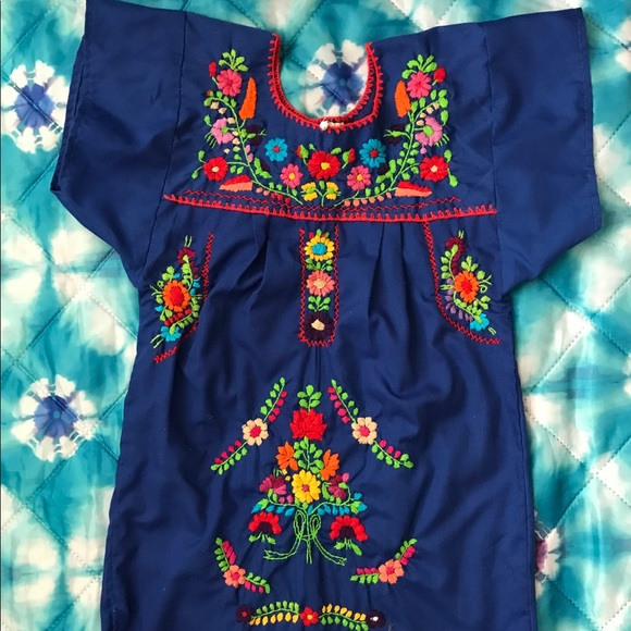 Little girls Mexican style dress